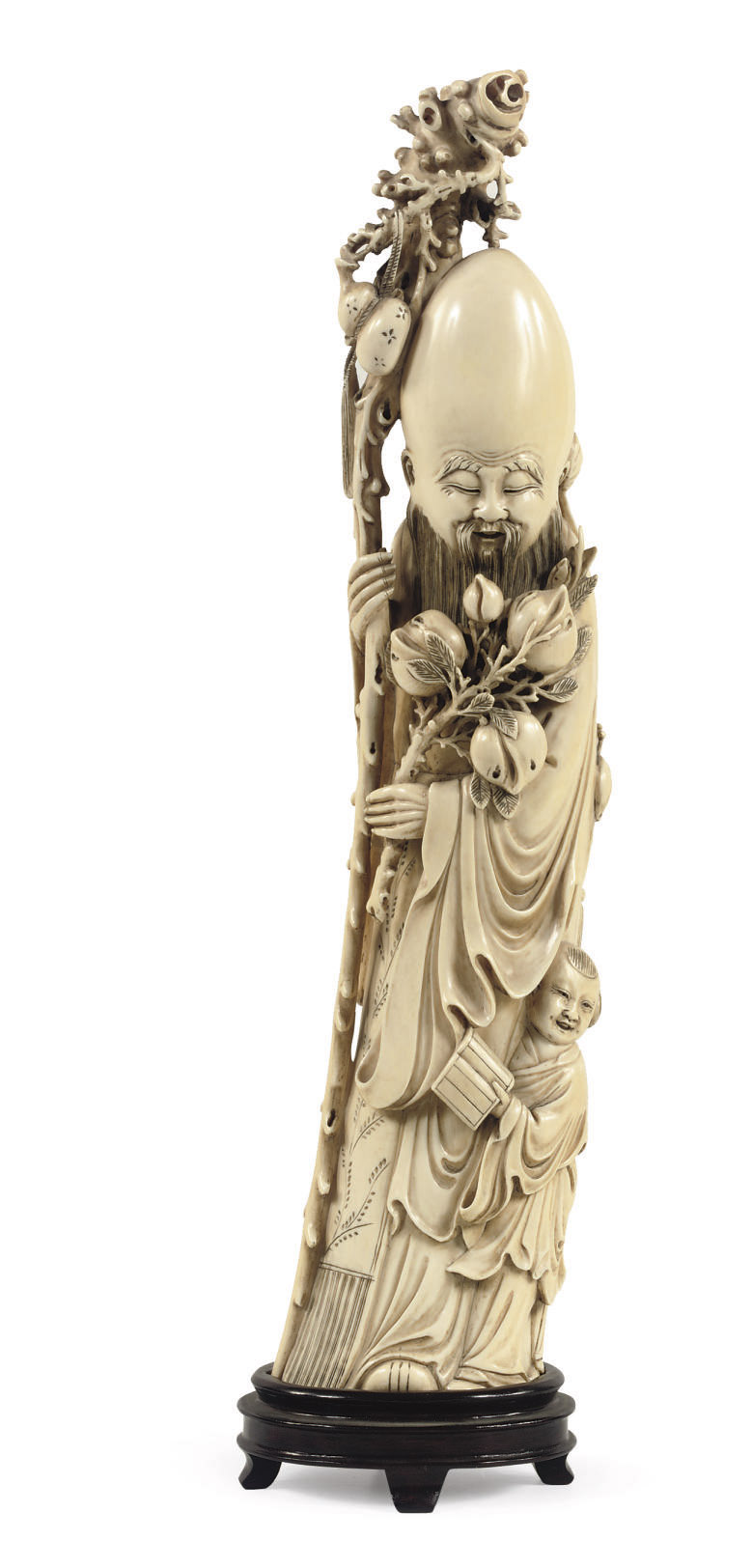 A Chinese ivory figure of Shou