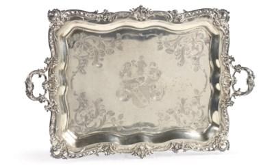 A German silver rectangular tr