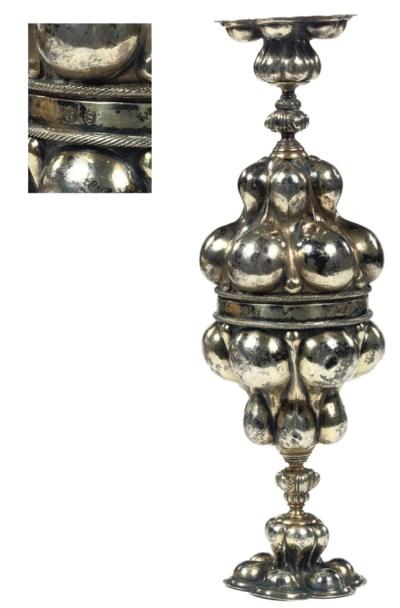 A rare German silver-gilt doub
