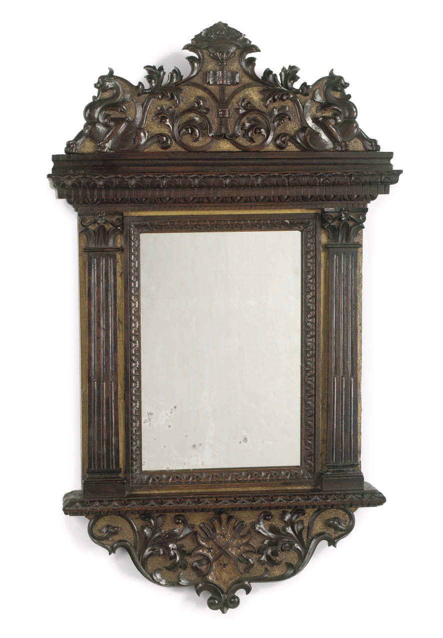 An Italian parcel-gilt and wal