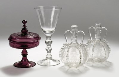A Dutch goblet, a Facon-de-Ven