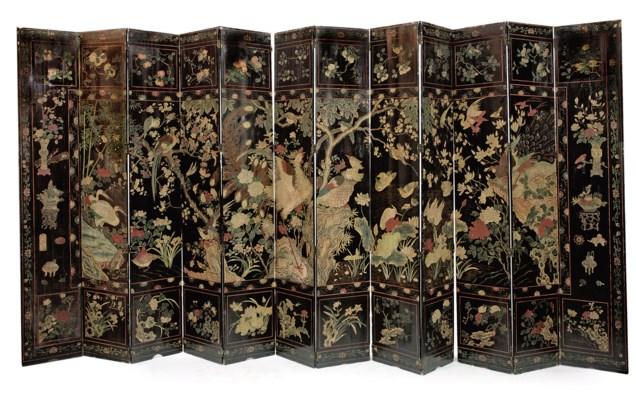 A Chinese twelve-fold coromand