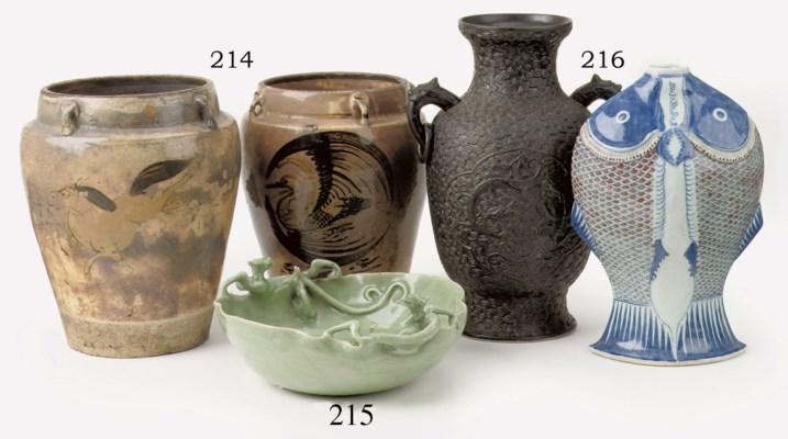 A Chinese celadon-glazed bowl