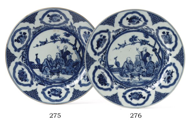 A Chinese blue and white 'Pron