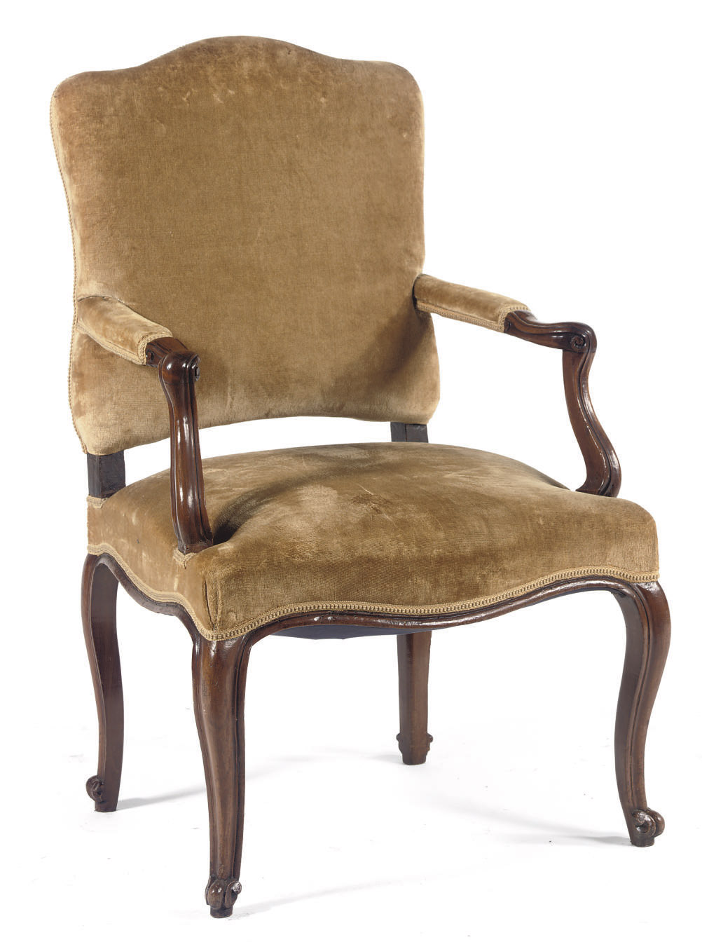 An Italian walnut armchair