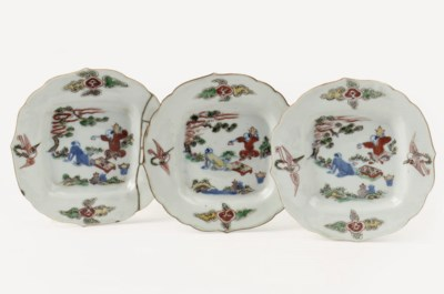 A set of three Chinese wucai d