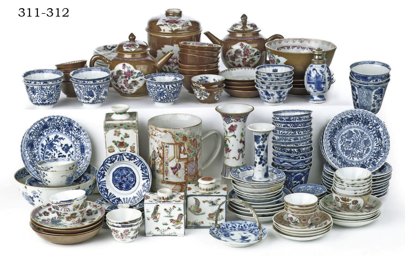 An assorted lot of Chinese por