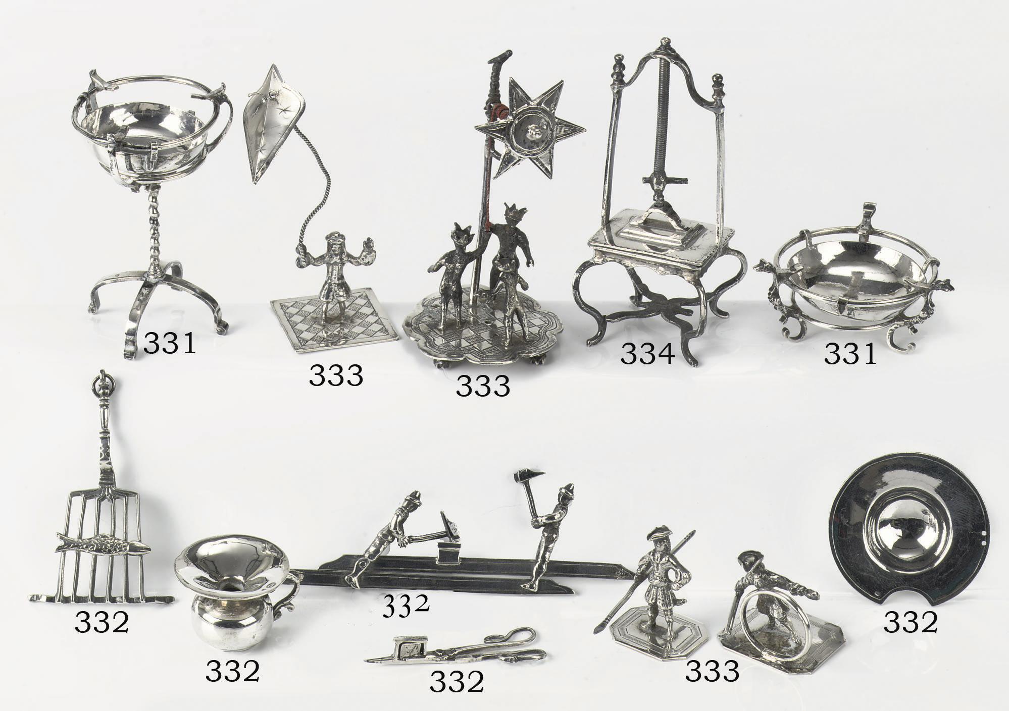 A set of five Dutch silver min