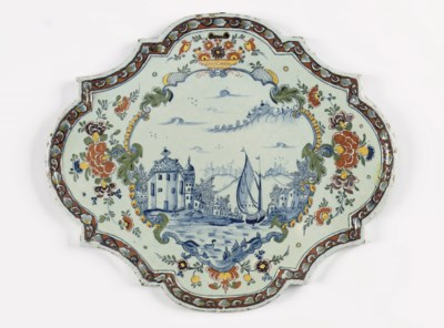 A large Dutch Delft 'mixed tec
