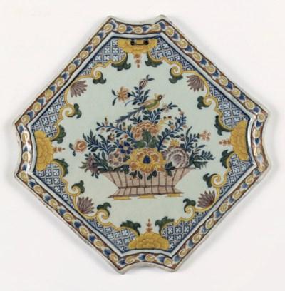 A Dutch Delft polychrome plaqu