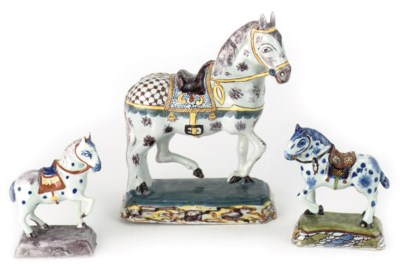 A group of three Dutch Delft p