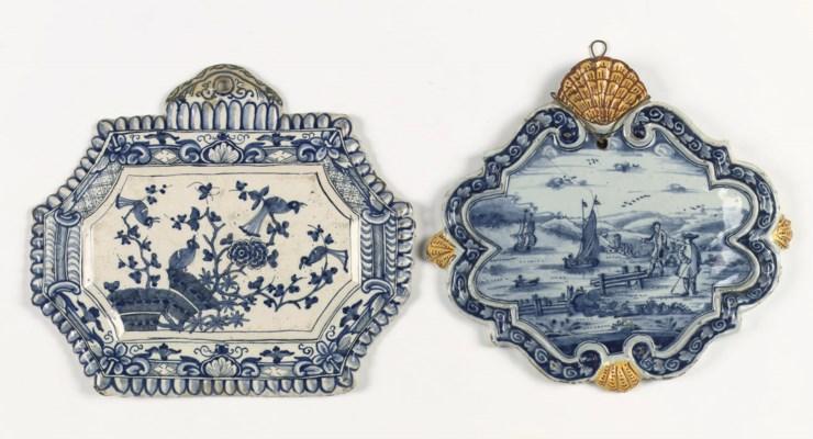 Two Dutch Delft plaques