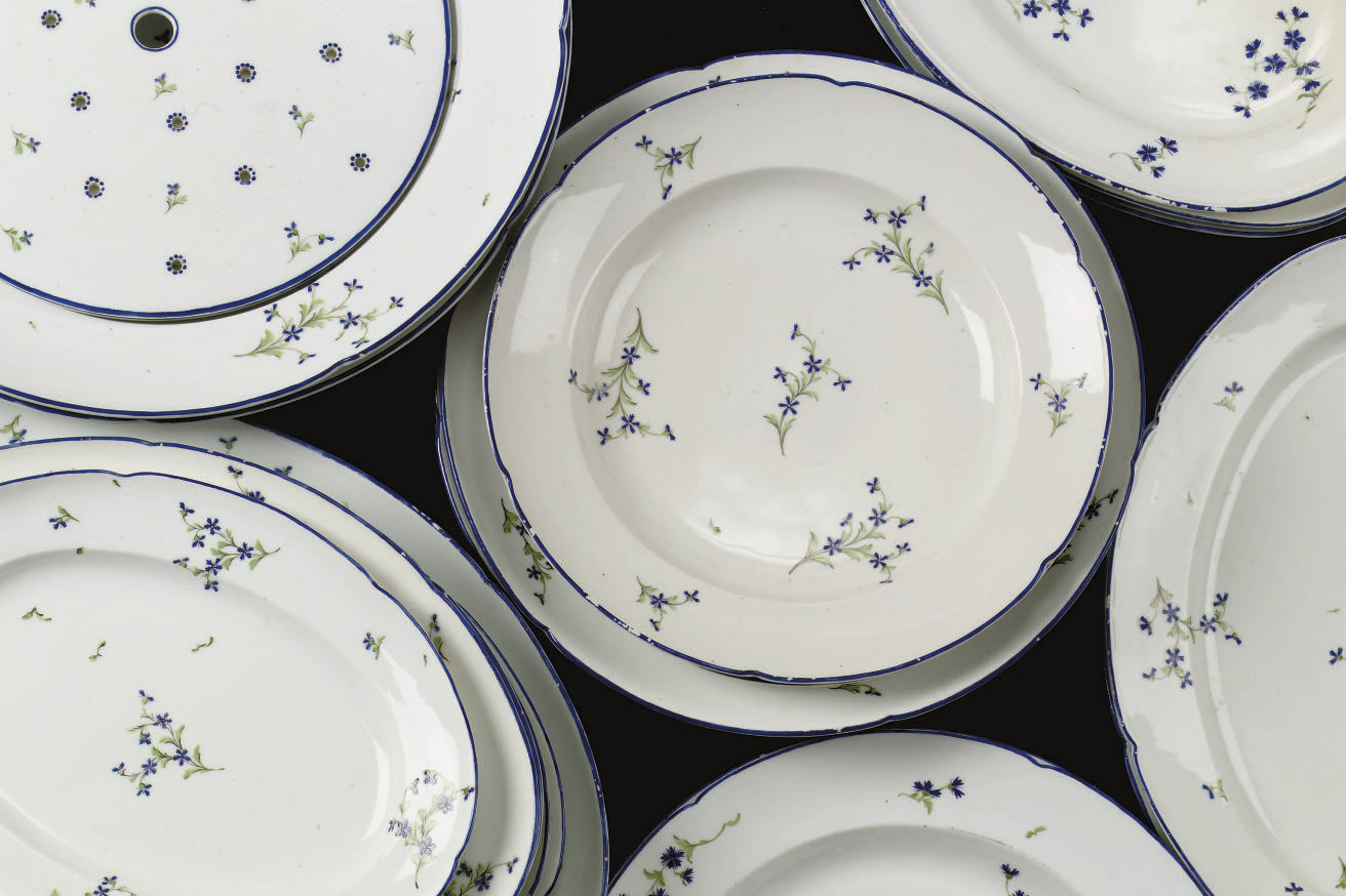 An assorted lot of twenty-three mainly Niderviller dishes