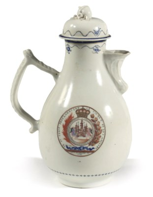 A Chinese Export ewer and cove
