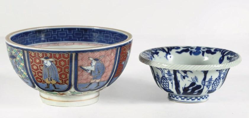 A pair of Japanese Namban bowl