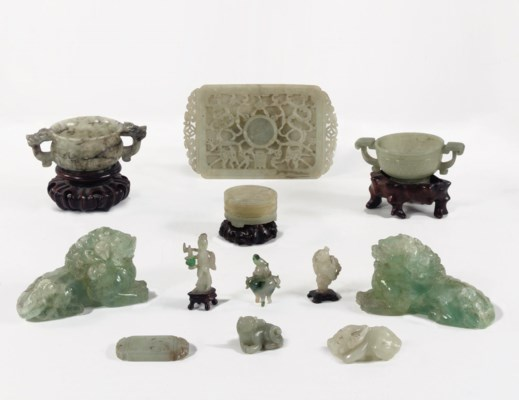 A group of Chinese hardstone c