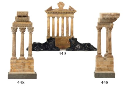 Three various Siena marble 'Gr
