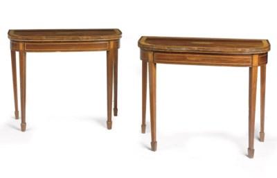 A pair of English rosewood, sa