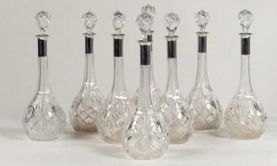 A set of eight German cut-glas