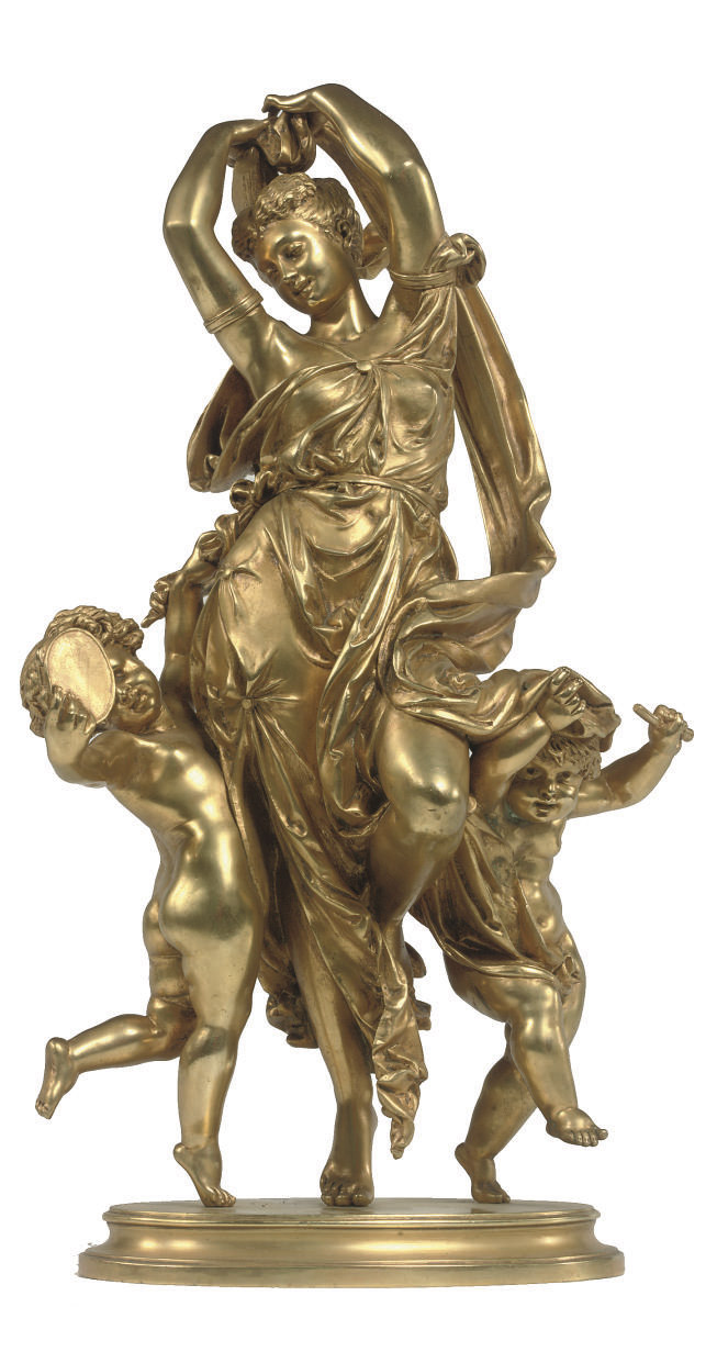 A FRENCH GILT BRONZE GROUP OF
