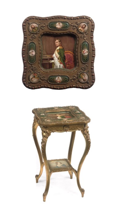 An Austrian giltwood and porce