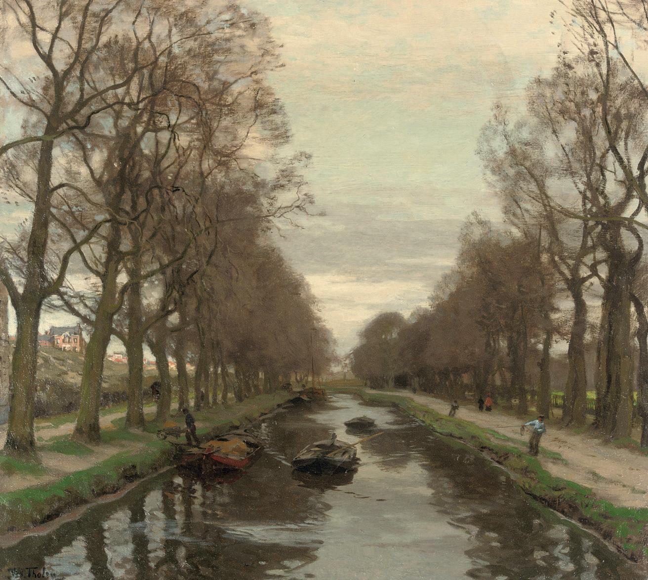 Barges on Het Kanaal, between The Hague and Scheveningen