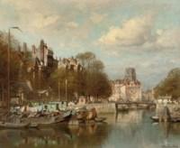 De Leuvenhaven with the Laurenskerk beyond, Rotterdam