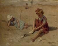 Kinderen op het strand: children playing on the beach