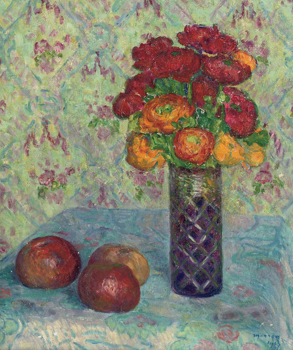 Renoncules: buttercups in a vase