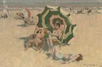 Plage de la Panne: on the beach, Belgium
