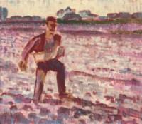 Zaaier, tegenlicht: working the land