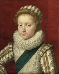 Portrait of Gaston d'Orleans, half-length, in a silver costume