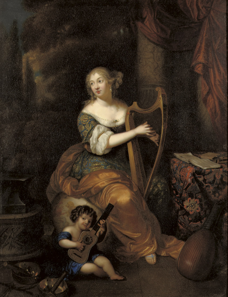Portrait of Madame de Montespan with her infant son the Duc de Maine
