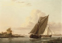 Sailing vessels on a calm