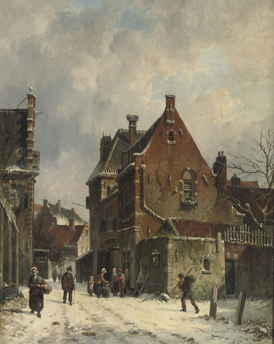 Winter in a Dutch town