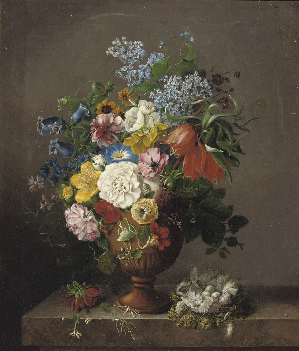 A colourful bouquet of various flowers
