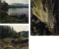 Jewitt Lake; Fish Trap at Valdes Bay; Man on horse near Matchlee Bay, from the Nootka sound series