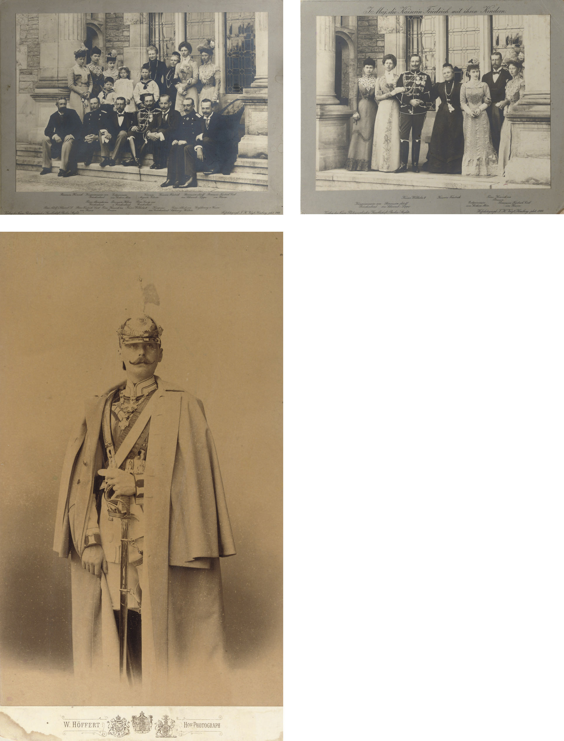 Two group photographs of Empre