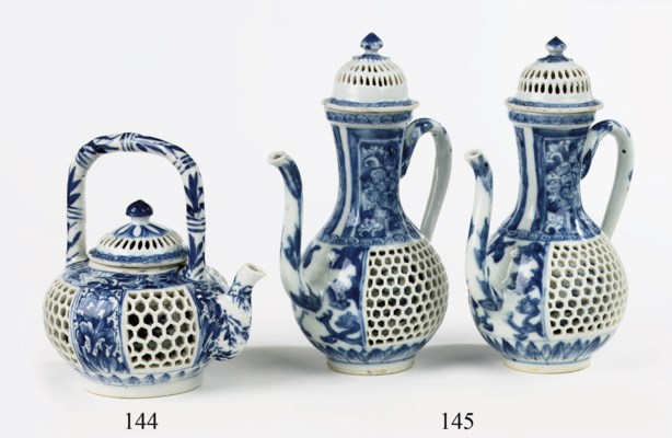 A Chinese blue and white 'doub