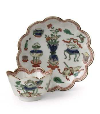 A Chinese famille verte cup an
