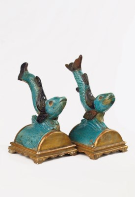 A pair of Chinese late Ming tu