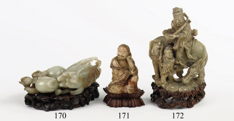 A Chinese jade model of a fing