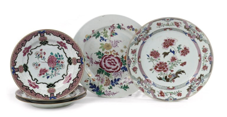 A set of three and two Chinese