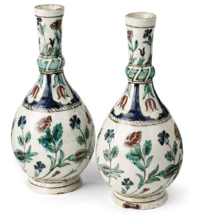 A pair of Iznik-style Samson w