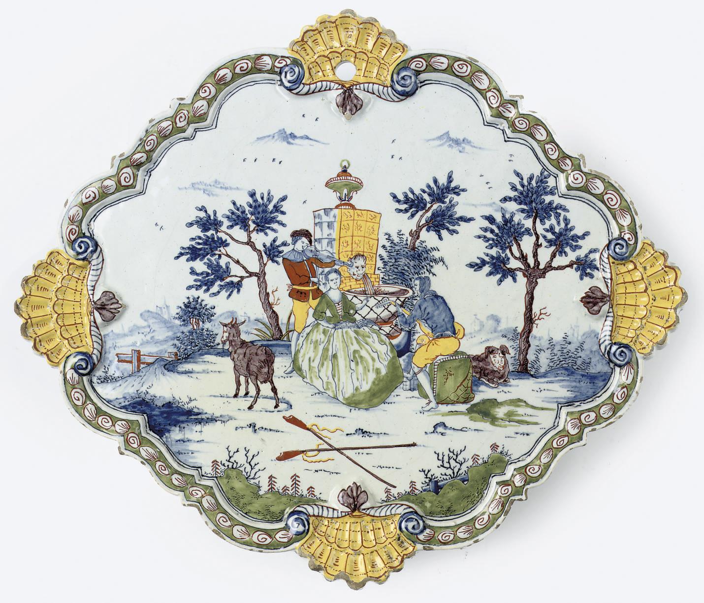 A Dutch Delft polychrome ogiva