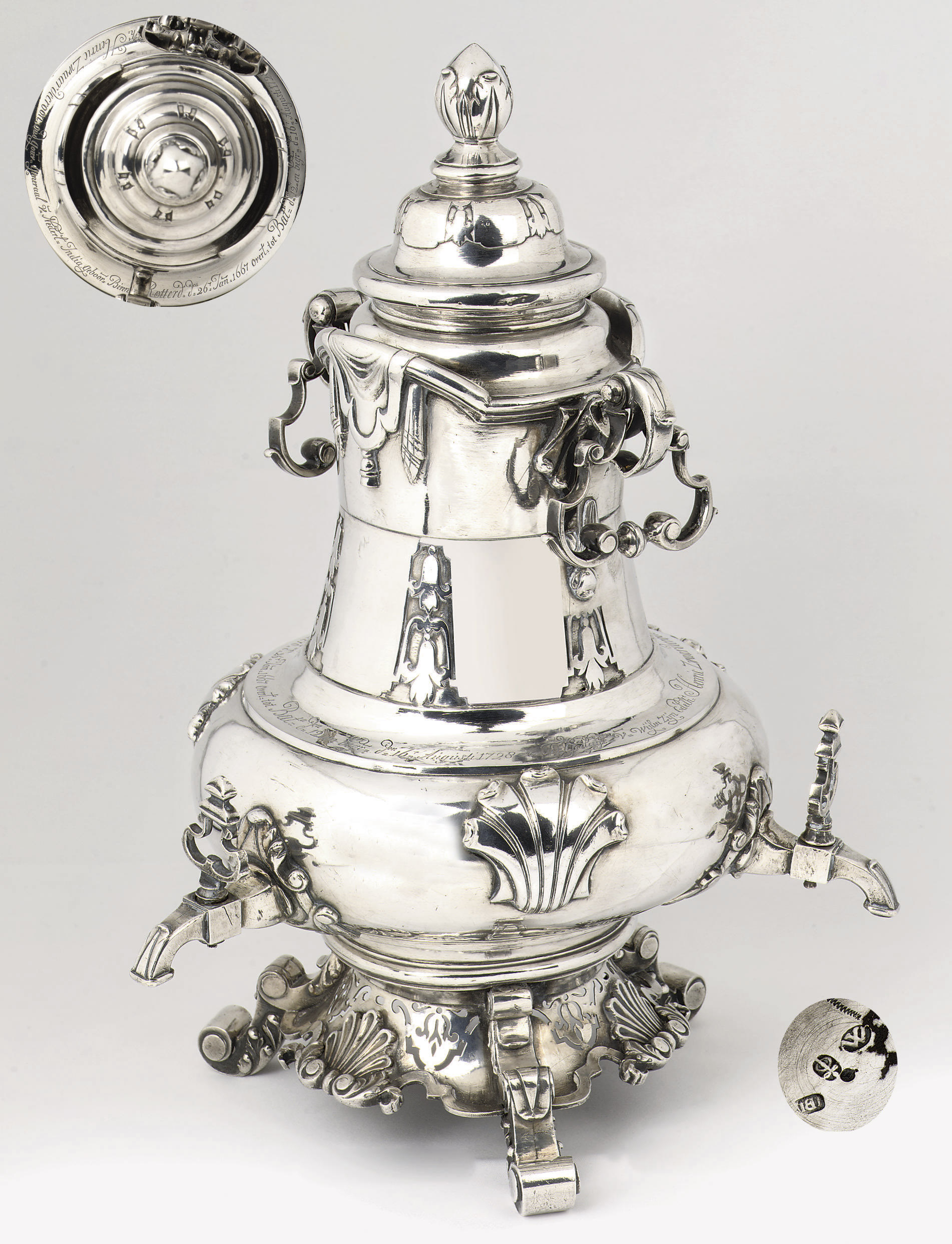 A Dutch colonial silver coffee