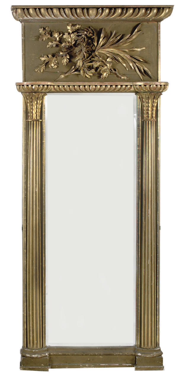 A SWEDISH TWO-TONE GILTWOOD MI