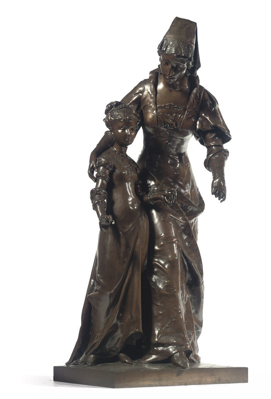 A FRENCH BRONZE GROUP OF A MOT