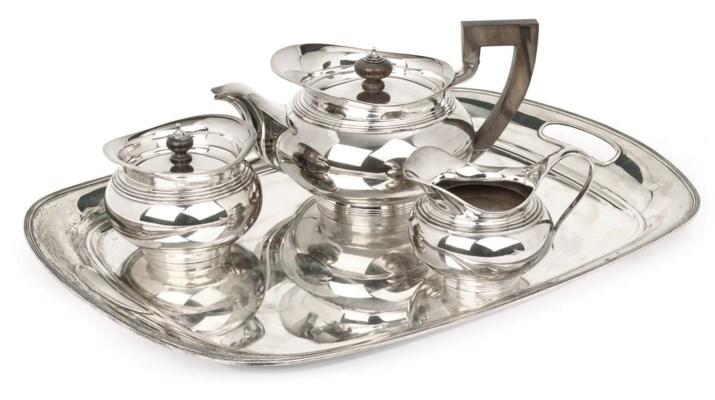 A Dutch silver tea-service