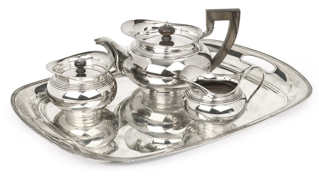 A Dutch silver tea-service